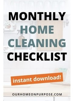 monthly home cleaning checklist
