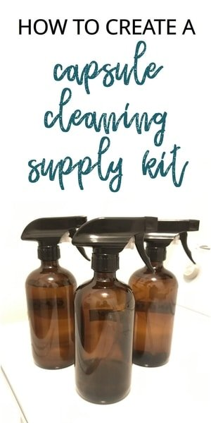 how to create a capsule cleaning supply kit for natural products