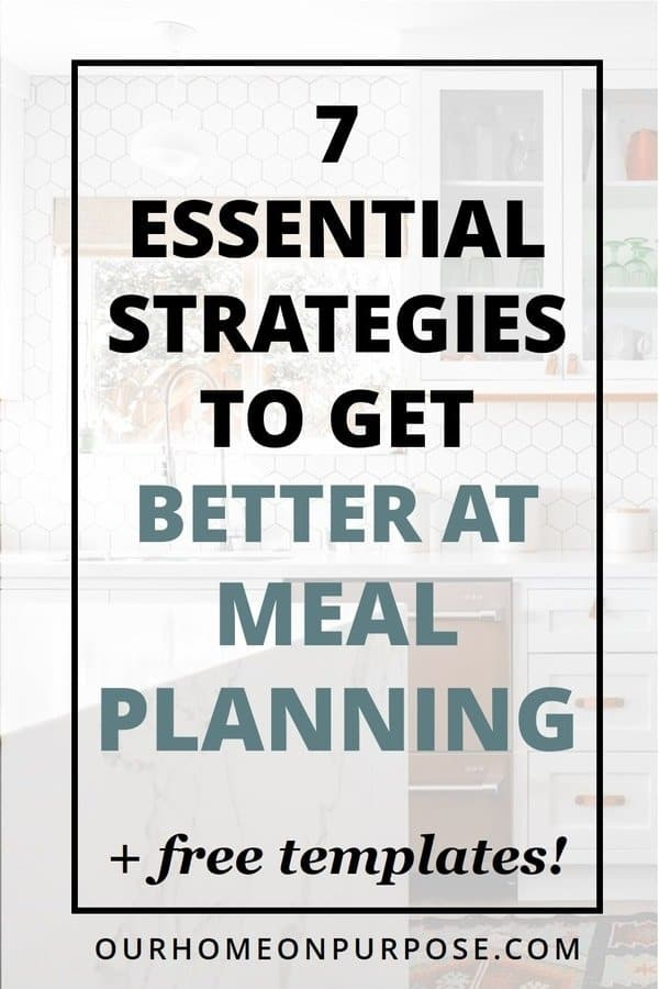 how can I get better at meal planning?
